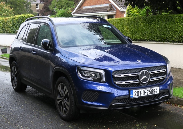 ELECTRIC VERSION OF MERC GLB IN TEST