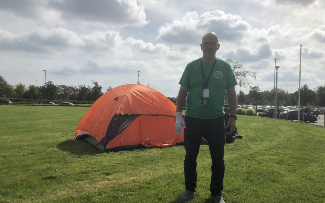 Family forced to live in a tent in Trim