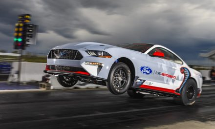 MUSTANG DOES ELECTRIC WHEELIE