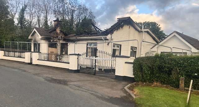 PICTURE EXCLUSIVE; Beauparc House Fire