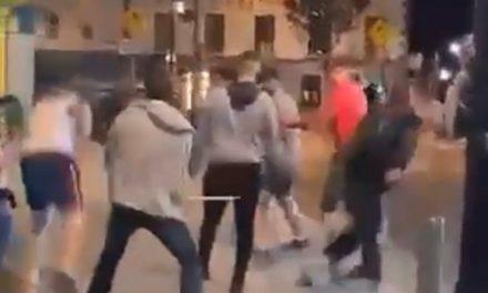 EXCLUSIVE FOOTAGE; Violent brawl in Navan